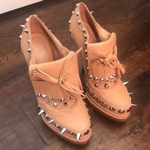 Jeffrey Campbell leather spike booties